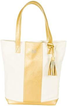 Cathy's Concepts Initial Metallic Tasseled Weekender Tote
