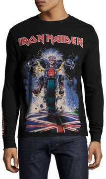 Eleven Paris Iron Maiden Long-Sleeve T-Shirt, Black