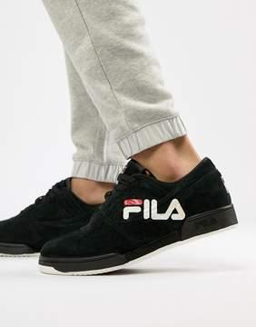 Fila Original Fitness Logo Sneaker In Black