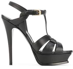 Saint Laurent Women's Black Leather Sandals.
