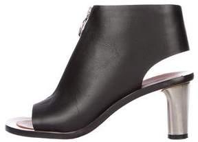 Celine Leather Peep-Toe Booties