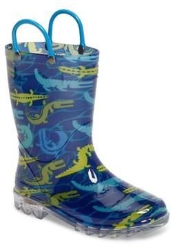 Western Chief Boy's Gators Galore Light-Up Rain Boot