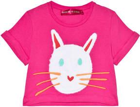 Agatha Ruiz De La Prada Pink Cat Face Print T-Shirt