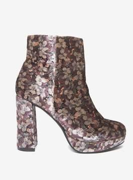 Dorothy Perkins Floral Velvet 'Anastasia' Ankle Boots