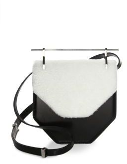 M2Malletier Flap Leather Crossbody Bag