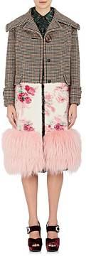 Prada Women's Fox-Fur-Trimmed Wool-Blend Coat