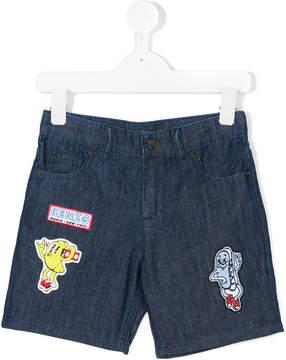 Kenzo multi-patches denim shorts