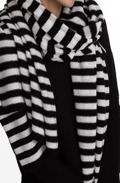 White + Warren Women's Travel Stripe Cashmere Wrap