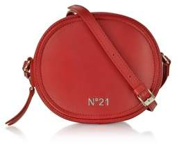 N°21 Women's Red Leather Shoulder Bag.