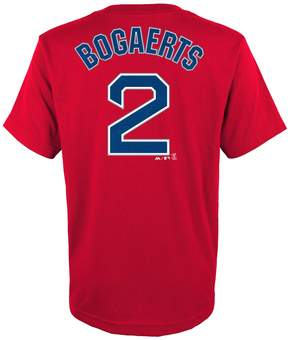 Majestic Boys 4-18 Boston Red Sox Xander Bogaerts Name & Number Tee