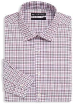 Saks Fifth Avenue BLACK Men's Checkered Cotton Dress Shirt