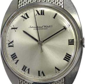 IWC Stainless Steel Hand-Winding 19mm Mens Watch