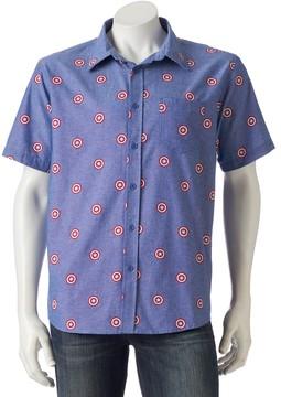 Marvel Men's Captain America Button-Down Shirt