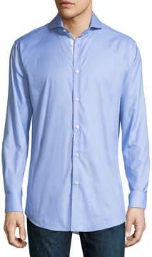 Neiman Marcus Trim-Fit Regular-Finish Graphic-Print Sport Shirt
