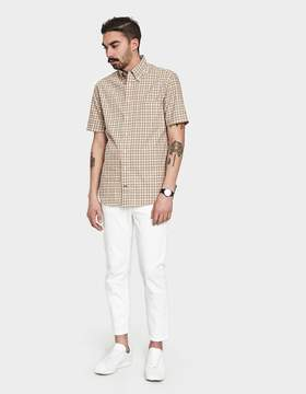 Gitman Brothers Tan Archive Plaid Shirt