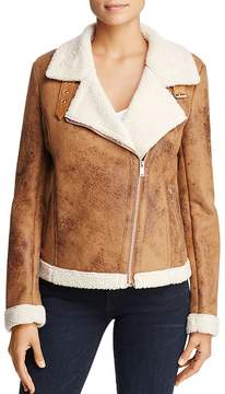 Bagatelle Faux-Shearling Biker Jacket - 100% Exclusive