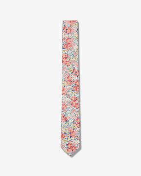Express Slim Flower Petal Liberty Fabric Cotton Tie