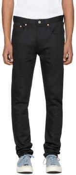Junya Watanabe Black Flannel Detail Jeans