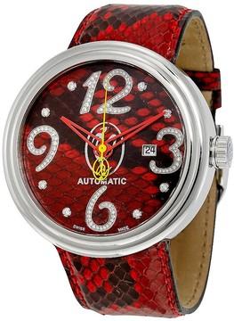 Jacob & co Valentin Yudashkin Red Python Automatic Diamond Men's Watch