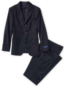 Polo Ralph Lauren Ii Pinstriped Wool Suit Navy Pinstripe 10