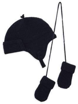 Ralph Lauren Baby's Wool Hat& Gloves Set