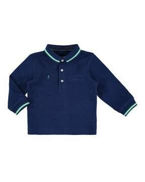 Mayoral Pin Dot-Print Polo Shirt, Navy, Size 6-36 Months