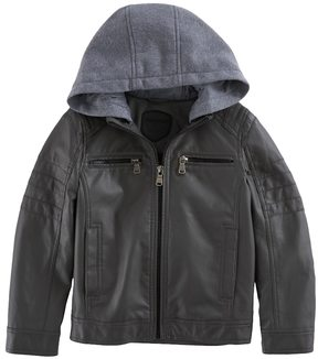 Urban Republic Toddler Boy Quilted Knit Hood Midweight Jacket