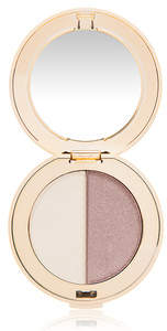 Jane Iredale PurePressed Eye Shadow Duo - Oyster/Supernova - soft pearl sheen and shimmery copper eggplant