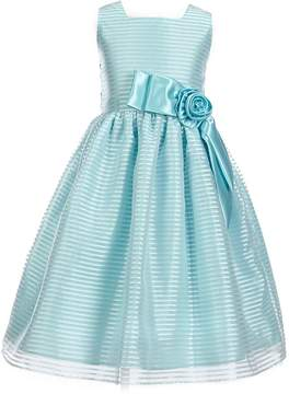 Jayne Copeland Big Girls 7-12 Organza Satin-Applique Dress