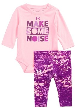 Under Armour Infant Girl's Make Some Noise Bodysuit & Pants Set