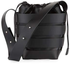 Paco Rabanne Cage Small Calfskin Hobo Bag, Black