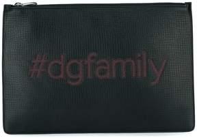 Dolce & Gabbana tdgfamily patch clutch