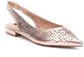 Steve Madden Steven by Lourdes Cutout Leather Slingback Flats