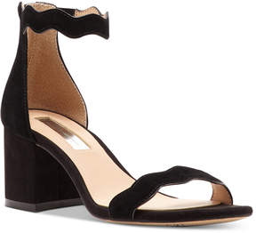 INC International Concepts Hadwin Scallop Block-Heel Sandals, Created for Macy's Women's Shoes