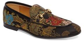 Gucci Men's Jordaan Jacquard Bit Loafer