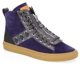 Bally Hekem Stitched Suede High-Top Sneakers