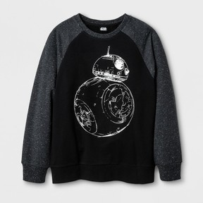 Star Wars Boys' BB8 Silhouette Sweatshirt - Black
