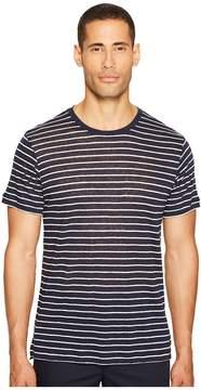 ATM Anthony Thomas Melillo Striped Linen Jersey Oversized Crew Men's T Shirt