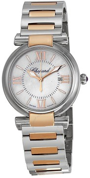 Chopard Imperiale Mother of Pearl Dial Stainless Steel and 18kt Rose Gold Ladies Watch