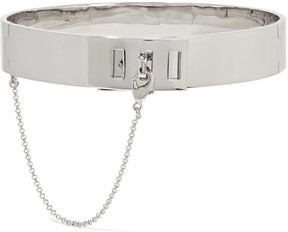 Eddie Borgo Safety Chain Rhodium-plated Choker - Silver