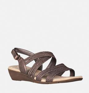 Avenue Fran Braided Slingback Wedge Sandal