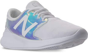 New Balance Little Girls' FuelCore Coast v3 Iridescent Running Sneakers from Finish Line