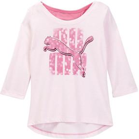 Puma 3/4 Length Sleeve Scoop Back Top (Big Girls)