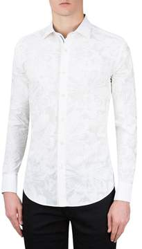 Bugatchi Men's Classic Fit Floral Print Sport Shirt