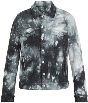 Balmain Tie-dye effect denim jacket