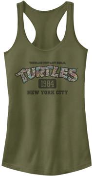 Fifth Sun TMNT Military Green Floral Logo Racerback Tank - Juniors
