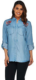 C. Wonder Chambray Carrie Blousew/ Embroidery