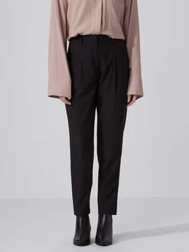 Frank and Oak The Grant Modal Pleated Trouser in True Black
