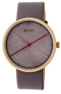 Simplify Men's The 4100 Quartz Watch.