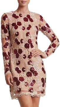Dress the Population Stephanie Embroidered-Mesh Mini Dress